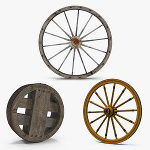 antique wagon wheels 2 model