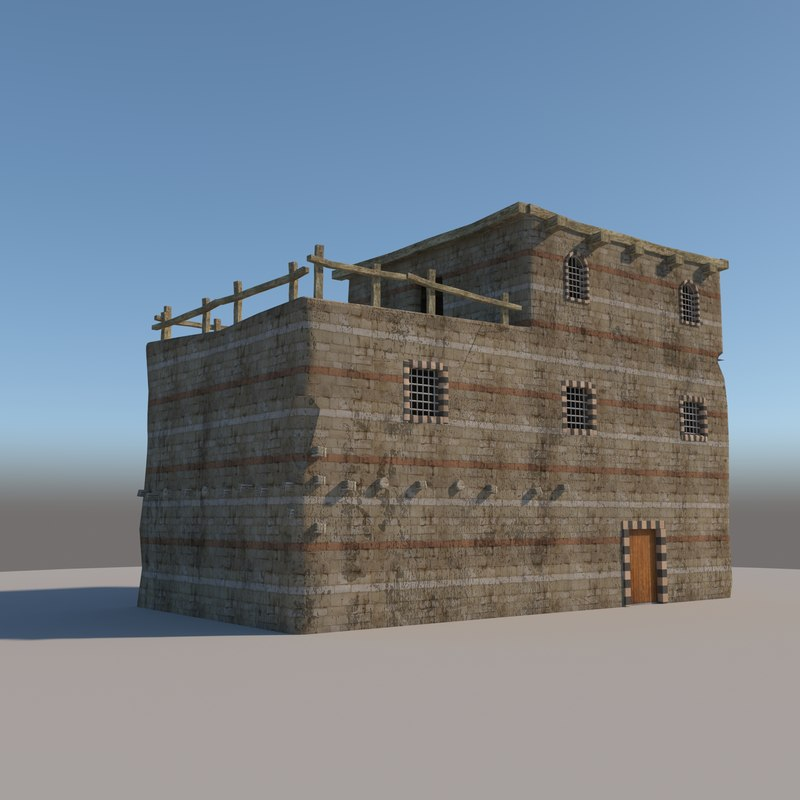 3D old arabic house model