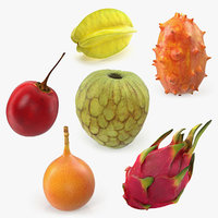 exotic fruits 3D