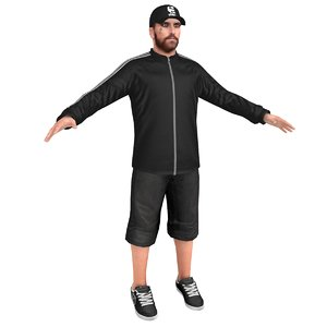 casual man 3D model