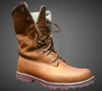 timberland leather boots 3D model