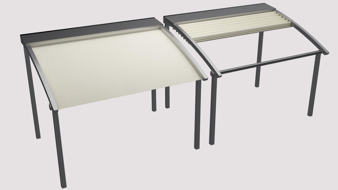 3d model awning sliding