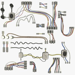 3D wires set model