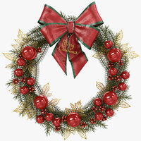 Realistic Christmas Wreath - PBR