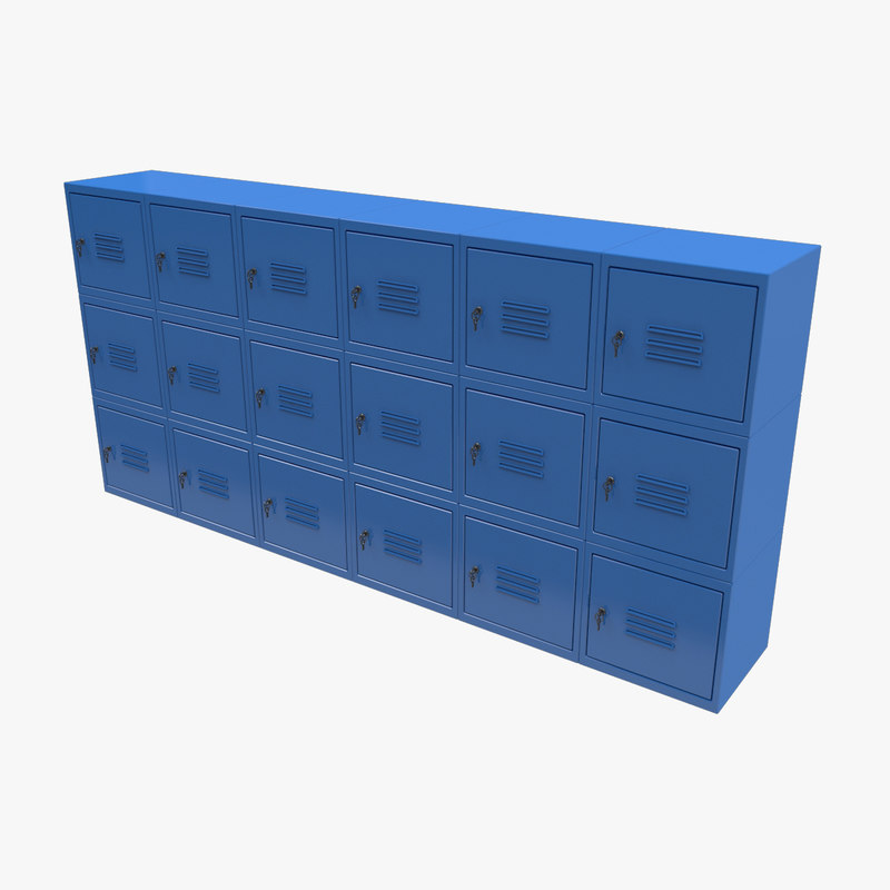 metal locker 3D