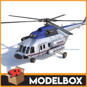 3D mi 8 helicopter model