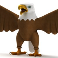 cartoon eagle 3D model