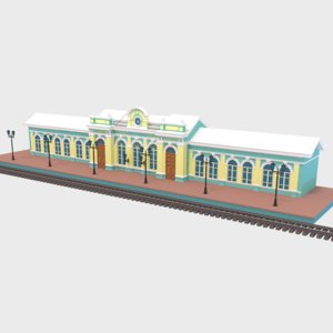 russia train station 3D model