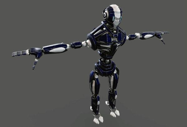 robot materials 3d model