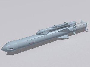 3d model 3m55e yahont-a missile