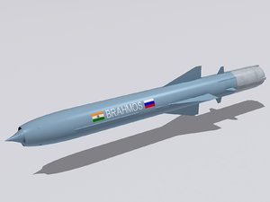 3d brahmos pj-10 missile model