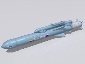 brahmos-a missile 3d 3ds