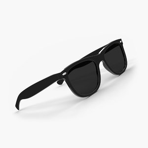 3d ray-ban sunglasses modeled model