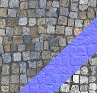 Cobble stone tex with normal map 03
