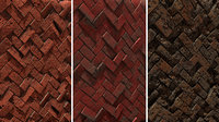 Herringbone Bricks Game Ready Texture