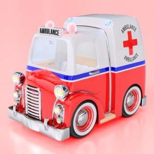 fbx cartoon ambulance