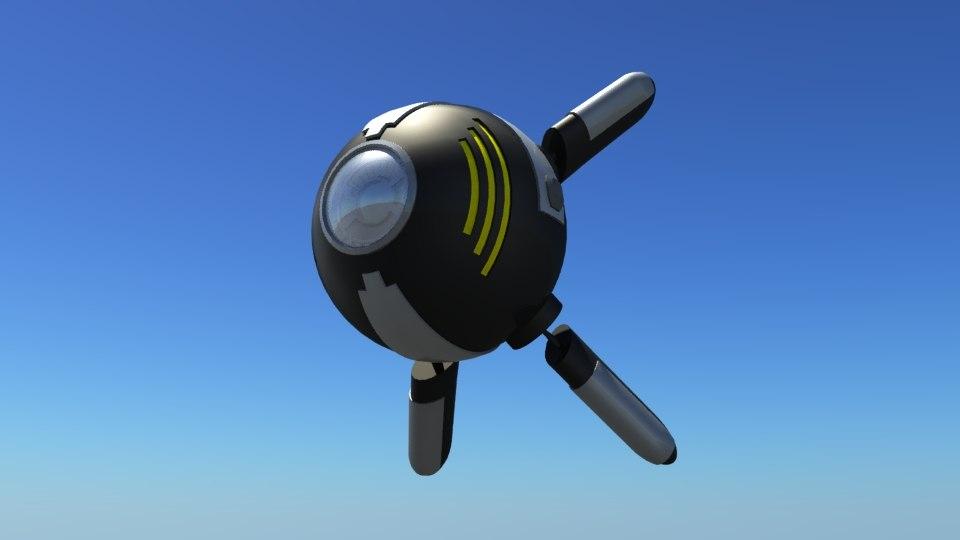 3D floating robot mood