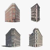 4 historic berlin corner 3d 3ds