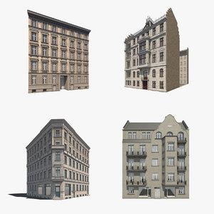 3d model 4 historic berlin residentials