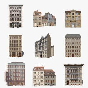 8 historic berlin residentials 3d 3ds