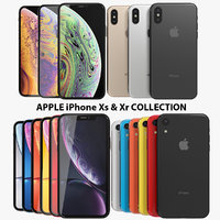 realistic apple iphone xs 3D model