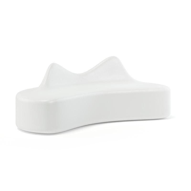 white modern bench 3D