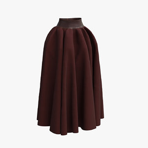 skirt medieval fabric leather 3D model