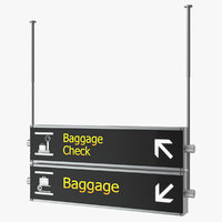 3D airport signs baggage check