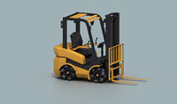 Rigged Forklift with Mecanum Wheels