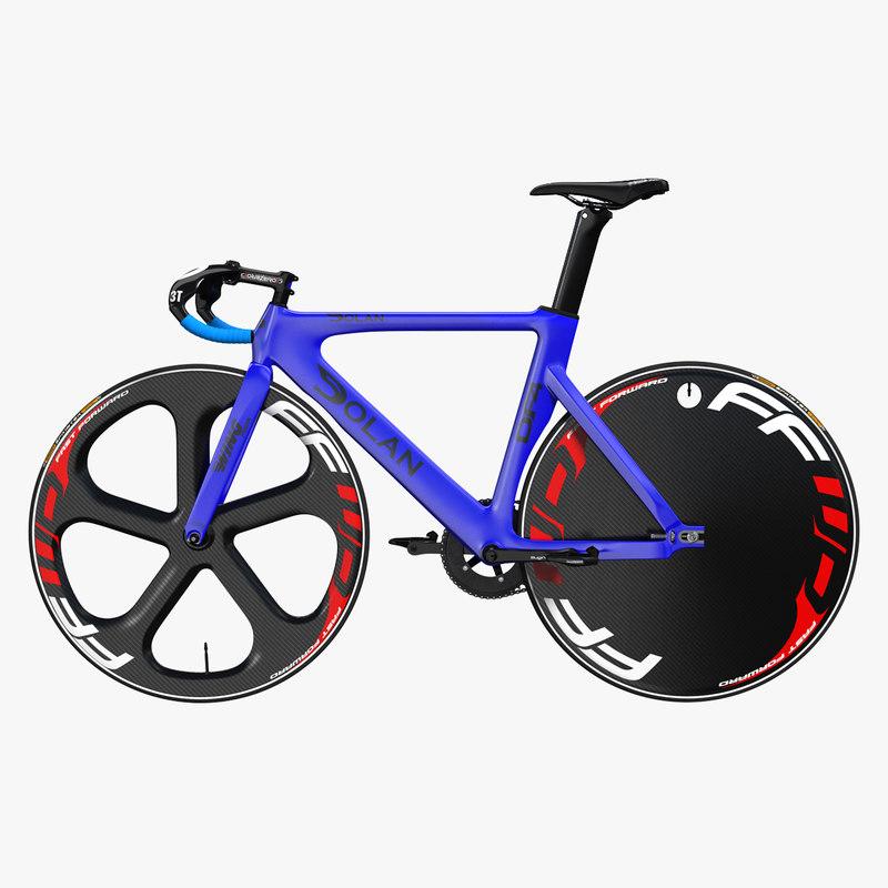 sport track bike dolan 3D model