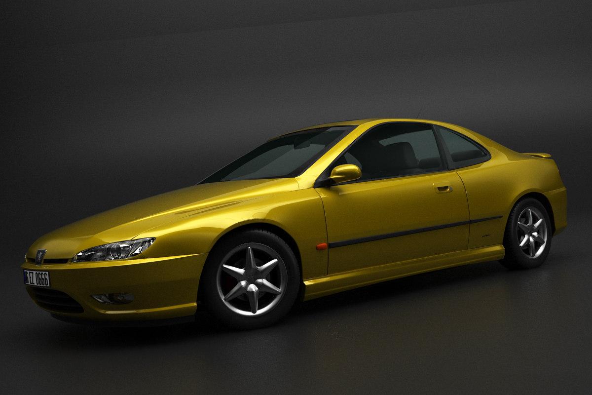 3D model peugeot 406 407 coupe