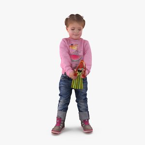3d model of girl doll people human