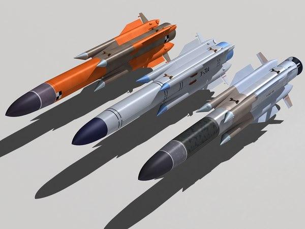 kh-31 family missile 3d max