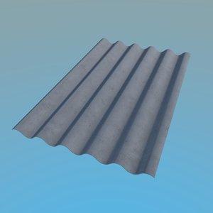 3d model slate roof 1125x1750mm 6