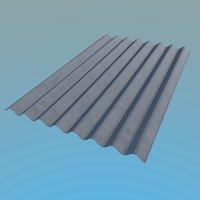 3d model slate roof 1130x1750mm 8
