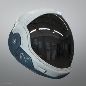 astronaut helmet stargazer model