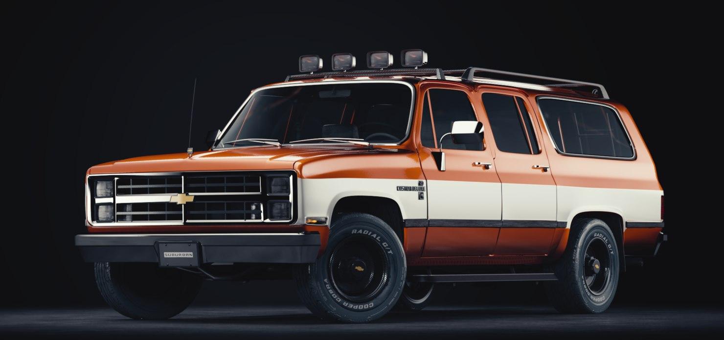 3d model chevrolet suburban 1985