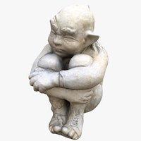 3D garden statue gollum