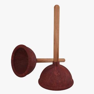 3d model toilet plunger