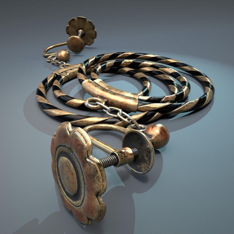 3D earring pbr model