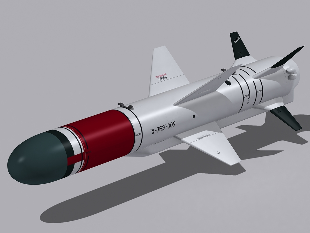 kh-35e missile aircraft 3d 3ds