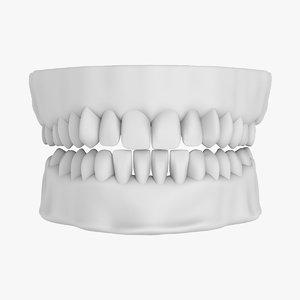 teeth denture 3d model