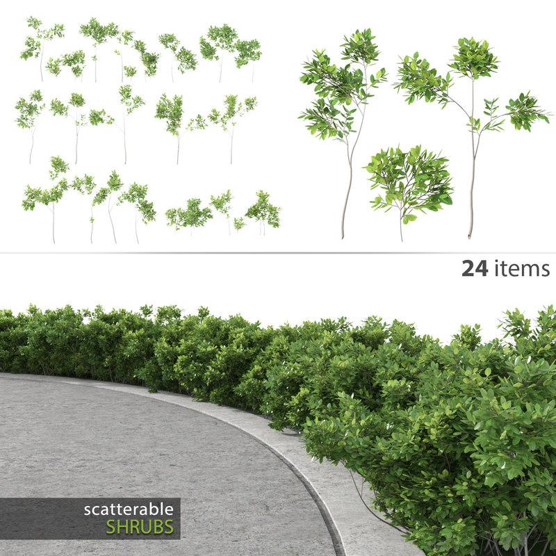 shrubs multiscatter scatterable 3d 3ds
