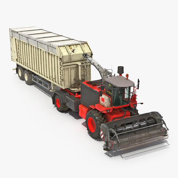 combine harvester trailer generic 3D model