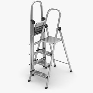 3D stepladder ladder step