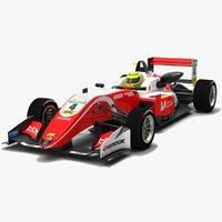 3D formula 3 race car