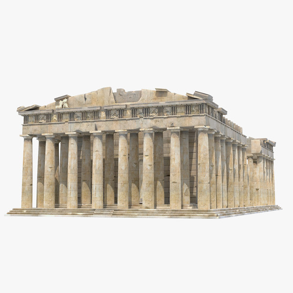 parthenon temple greek 3d max