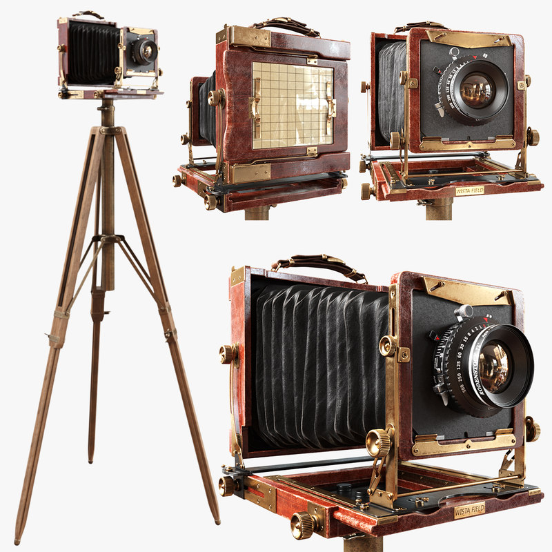 3D model camera tripod vintage