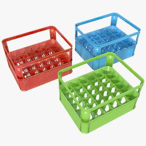 3d model plastic crate