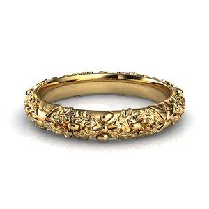 oak ornament ring 3D